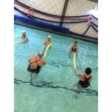 aula de hidroginástica em duplas Aclimação