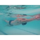 aula de natação avulsa Santa Cecília