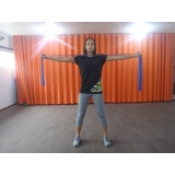 aula de pilates com elástico Centro