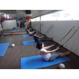 aula de pilates solo Santa Cecília
