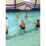 aulas de hidroginástica para idosos Centro