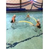 aula de natação e hidroginástica