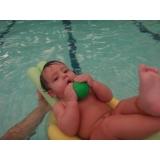 onde fazer aula de natação de bebe Aclimação